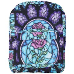 Cathedral Rosette Stained Glass Full Print Backpack by Samandel