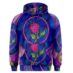 Enchanted Rose Stained Glass Men s Pullover Hoodie by Samandel