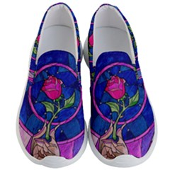 Enchanted Rose Stained Glass Men s Lightweight Slip Ons