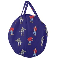 Drake Ugly Holiday Christmas Giant Round Zipper Tote by Samandel