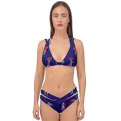 Drake Ugly Holiday Christmas Double Strap Halter Bikini Set