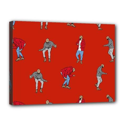 Drake Ugly Holiday Christmas Canvas 16  X 12