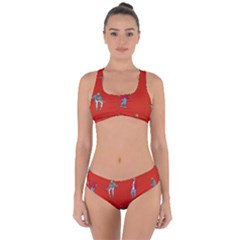 Drake Ugly Holiday Christmas Criss Cross Bikini Set