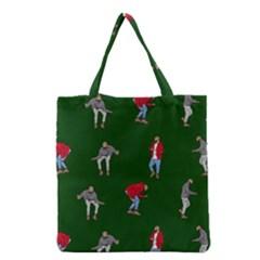 Drake Ugly Holiday Christmas Grocery Tote Bag by Samandel