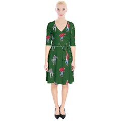 Drake Ugly Holiday Christmas Wrap Up Cocktail Dress