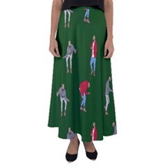 Drake Ugly Holiday Christmas Flared Maxi Skirt