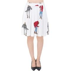 Drake Ugly Holiday Christmas Velvet High Waist Skirt