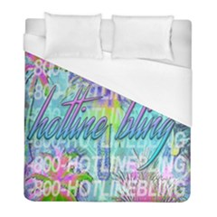 Drake 1 800 Hotline Bling Duvet Cover (full/ Double Size)