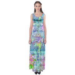 Drake 1 800 Hotline Bling Empire Waist Maxi Dress by Samandel