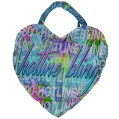 Drake 1 800 Hotline Bling Giant Heart Shaped Tote by Samandel