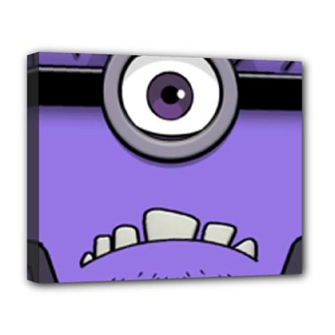 Evil Purple Deluxe Canvas 20  X 16