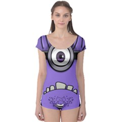 Evil Purple Boyleg Leotard