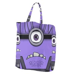 Evil Purple Giant Grocery Zipper Tote