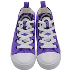 Evil Purple Kid s Mid Top Canvas Sneakers
