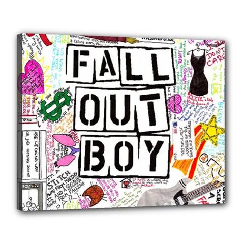 Fall Out Boy Lyric Art Canvas 20  X 16  by Samandel