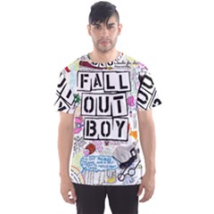 Fall Out Boy Lyric Art Men s Sports Mesh Tee