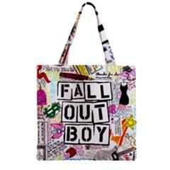 Fall Out Boy Lyric Art Zipper Grocery Tote Bag by Samandel