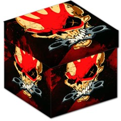 Five Finger Death Punch Heavy Metal Hard Rock Bands Skull Skulls Dark Storage Stool 12