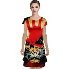 Five Finger Death Punch Heavy Metal Hard Rock Bands Skull Skulls Dark Cap Sleeve Nightdress