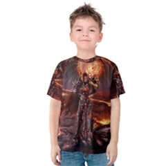 Fantasy Art Fire Heroes Heroes Of Might And Magic Heroes Of Might And Magic Vi Knights Magic Repost Kids  Cotton Tee