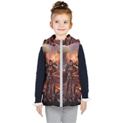 Fantasy Art Fire Heroes Heroes Of Might And Magic Heroes Of Might And Magic Vi Knights Magic Repost Kid s Hooded Puffer Vest