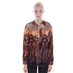Fantasy Art Fire Heroes Heroes Of Might And Magic Heroes Of Might And Magic Vi Knights Magic Repost Womens Long Sleeve Shirt