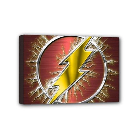Flash Flashy Logo Mini Canvas 6  X 4  by Samandel