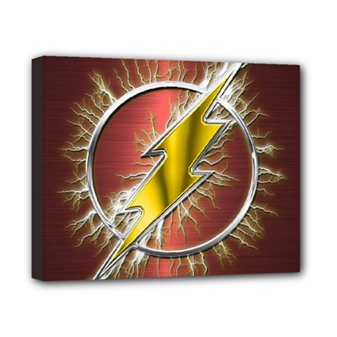 Flash Flashy Logo Canvas 10  X 8