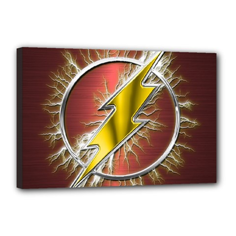 Flash Flashy Logo Canvas 18  X 12