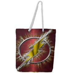Flash Flashy Logo Full Print Rope Handle Tote (large)