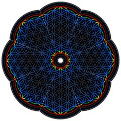 Flower Of Life Straight Umbrellas