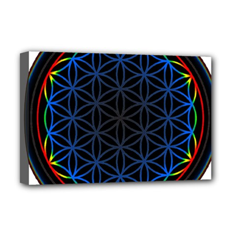 Flower Of Life Deluxe Canvas 18  X 12