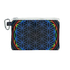 Flower Of Life Canvas Cosmetic Bag (medium)
