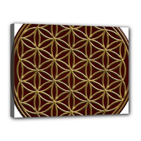 Flower Of Life Canvas 16  X 12