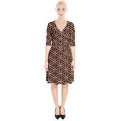 Flower Of Life Wrap Up Cocktail Dress