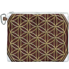 Flower Of Life Canvas Cosmetic Bag (xxxl)