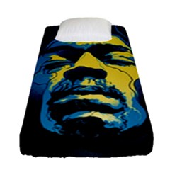 Gabz Jimi Hendrix Voodoo Child Poster Release From Dark Hall Mansion Fitted Sheet (single Size) by Samandel