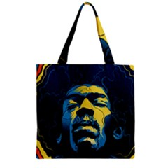 Gabz Jimi Hendrix Voodoo Child Poster Release From Dark Hall Mansion Zipper Grocery Tote Bag by Samandel