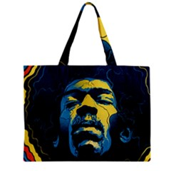 Gabz Jimi Hendrix Voodoo Child Poster Release From Dark Hall Mansion Zipper Mini Tote Bag by Samandel