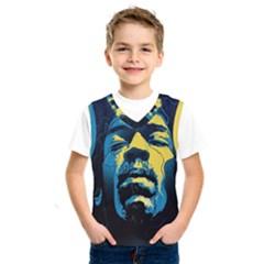 Gabz Jimi Hendrix Voodoo Child Poster Release From Dark Hall Mansion Kids  Sportswear by Samandel