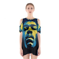 Gabz Jimi Hendrix Voodoo Child Poster Release From Dark Hall Mansion Shoulder Cutout One Piece