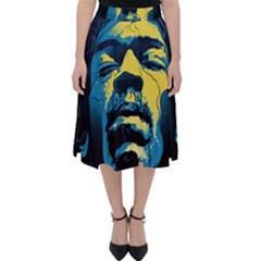 Gabz Jimi Hendrix Voodoo Child Poster Release From Dark Hall Mansion Folding Skater Skirt by Samandel