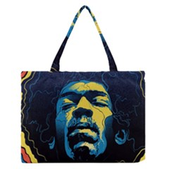 Gabz Jimi Hendrix Voodoo Child Poster Release From Dark Hall Mansion Zipper Medium Tote Bag by Samandel