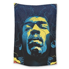 Gabz Jimi Hendrix Voodoo Child Poster Release From Dark Hall Mansion Large Tapestry by Samandel