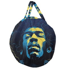 Gabz Jimi Hendrix Voodoo Child Poster Release From Dark Hall Mansion Giant Round Zipper Tote by Samandel