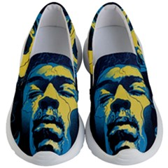 Gabz Jimi Hendrix Voodoo Child Poster Release From Dark Hall Mansion Kid s Lightweight Slip Ons by Samandel