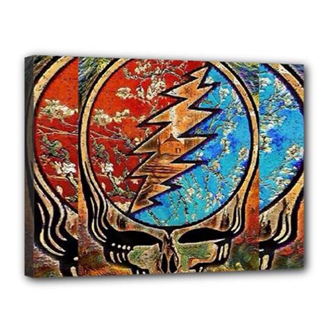 Grateful Dead Rock Band Canvas 16  X 12
