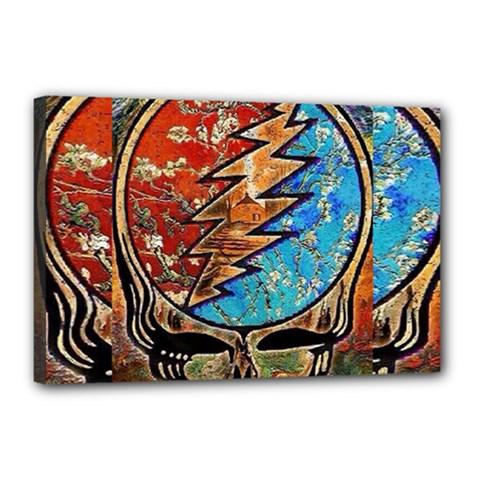 Grateful Dead Rock Band Canvas 18  X 12