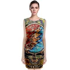 Grateful Dead Rock Band Classic Sleeveless Midi Dress