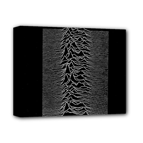 Grayscale Joy Division Graph Unknown Pleasures Deluxe Canvas 14  X 11